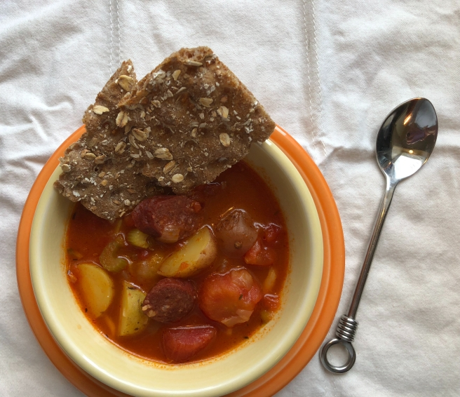 Potato & sausage stew
